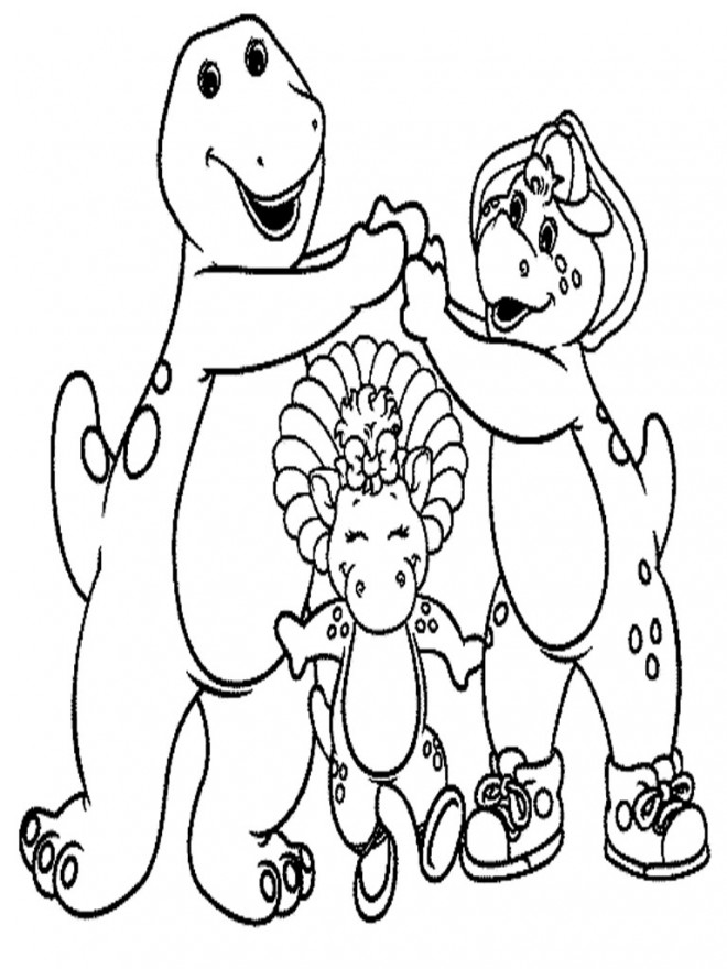 Coloriage et dessins gratuits Barney et ses amis à imprimer