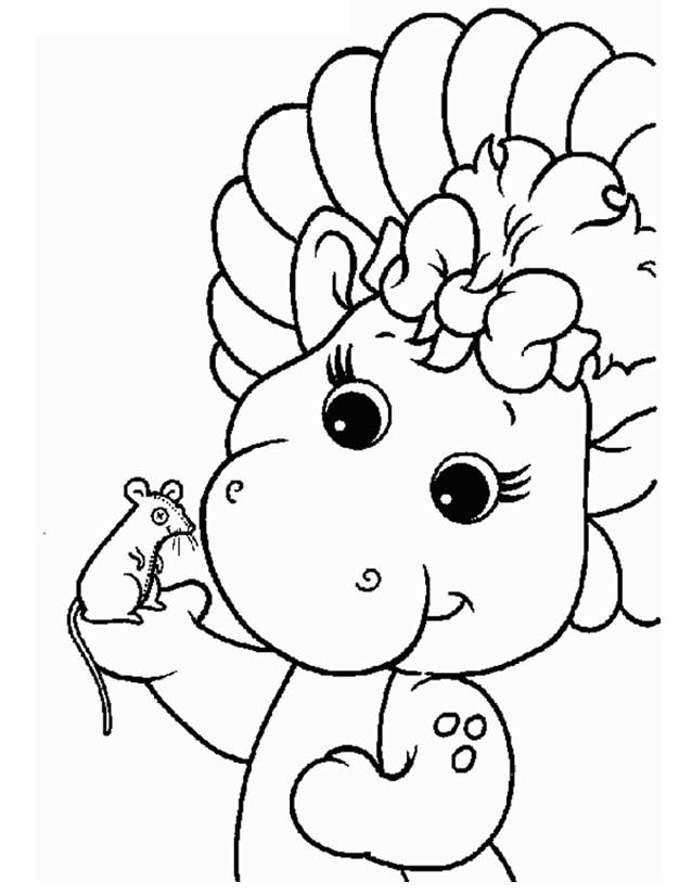 Coloriage et dessins gratuits Barney et son ami à imprimer