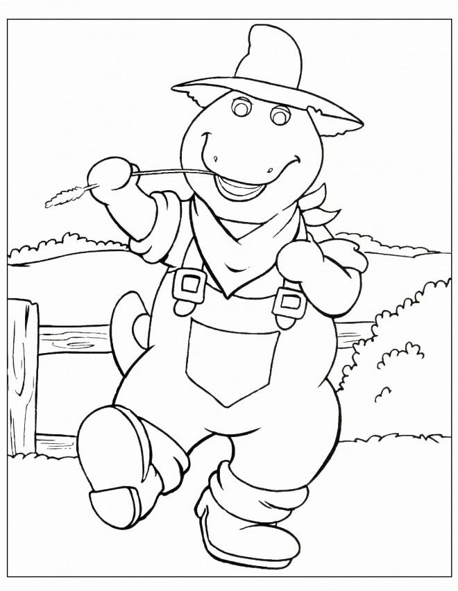 Coloriage et dessins gratuits Barney le farmier à imprimer