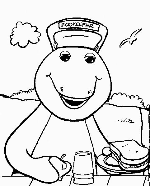 Coloriage et dessins gratuits Barney simple à imprimer