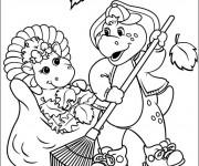 Coloriage et dessins gratuit BJ et Baby Bop à imprimer