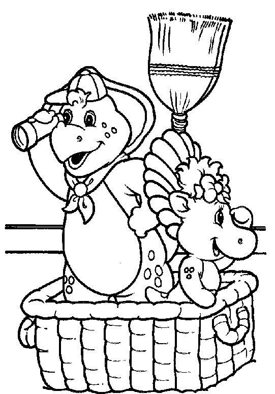 Coloriage et dessins gratuits Bj et Baby Bop partent en excursion à imprimer