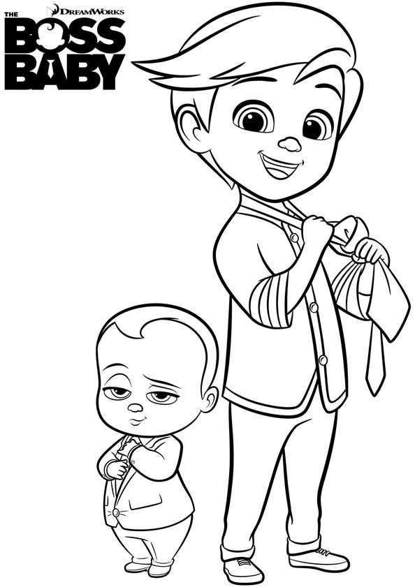 Coloriage et dessins gratuits Bébé Boss et Tim à imprimer