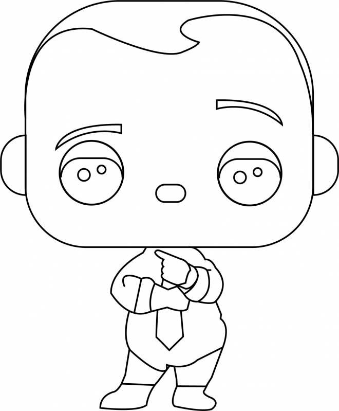 Coloriage et dessins gratuits Bébé Boss Kawaii à imprimer