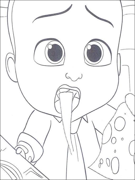 Coloriage et dessins gratuits Bébé Boss surpris à imprimer