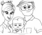 Coloriage et dessins gratuit Bébé Boss Tous en scène à imprimer