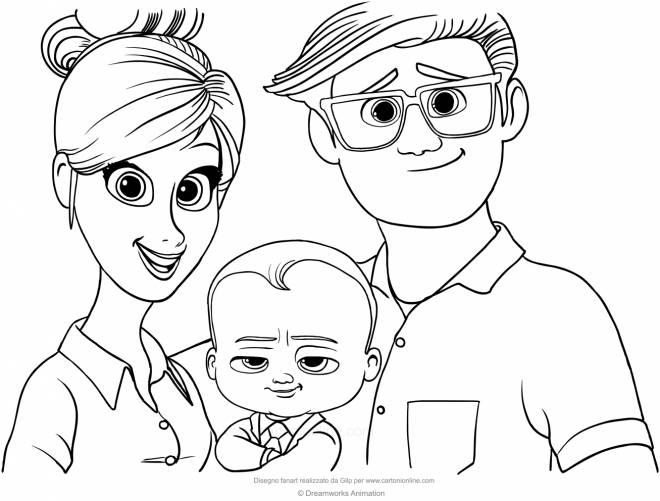 Coloriage et dessins gratuits Bébé Boss Tous en scène à imprimer