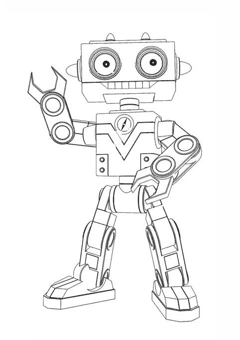 Coloriage Bébé Lilly robot dessin gratuit à imprimer