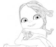 Coloriage et dessins gratuit Bebe Lilly assise à imprimer