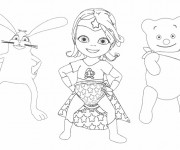 Coloriage Bebe Lilly avec ses amis