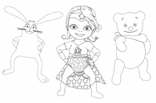 Coloriage et dessins gratuits Bebe Lilly avec ses amis à imprimer