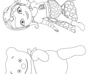 Coloriage Bebe Lilly contente