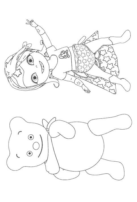 Coloriage et dessins gratuits Bebe Lilly contente à imprimer