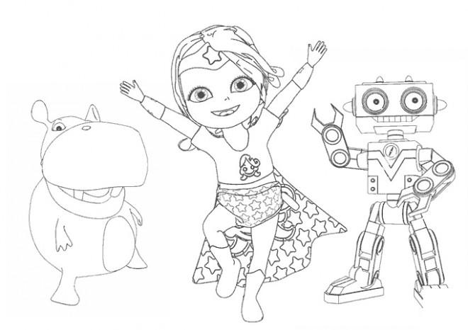 Coloriage et dessins gratuits Bebe Lilly en ligne à imprimer