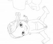 Coloriage et dessins gratuit Bebe Lilly entourée par ses amis à imprimer