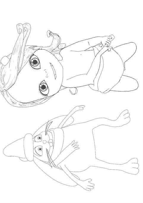 Coloriage et dessins gratuits Bebe Lilly et Hugo l'escargot à imprimer