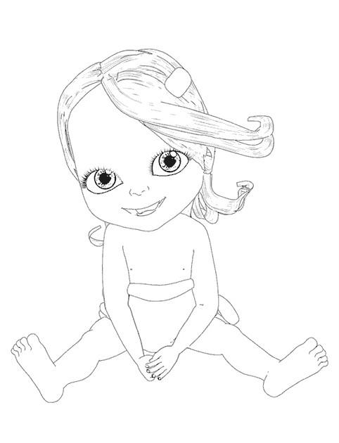 Coloriage et dessins gratuits Bebe Lilly gratuit à imprimer