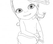 Coloriage Bebe Lilly simple