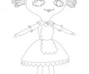 Coloriage et dessins gratuit La poupée de Bebe Lilly à imprimer