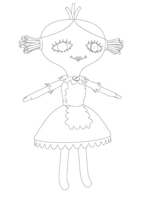 Coloriage et dessins gratuits La poupée de Bebe Lilly à imprimer