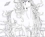 Coloriage et dessins gratuit Bella Sara à colorier à imprimer