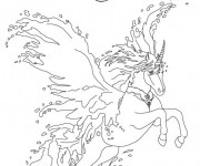 Coloriage Bella Sara cheval qui saute