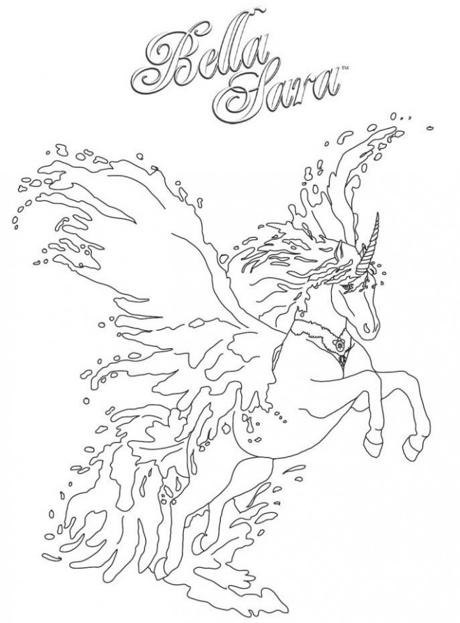 Coloriage et dessins gratuits Bella Sara cheval qui saute à imprimer