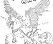Coloriage et dessins gratuit Bella Sara cheval volant à imprimer