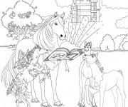 Coloriage et dessins gratuit Bella Sara chevaux à imprimer