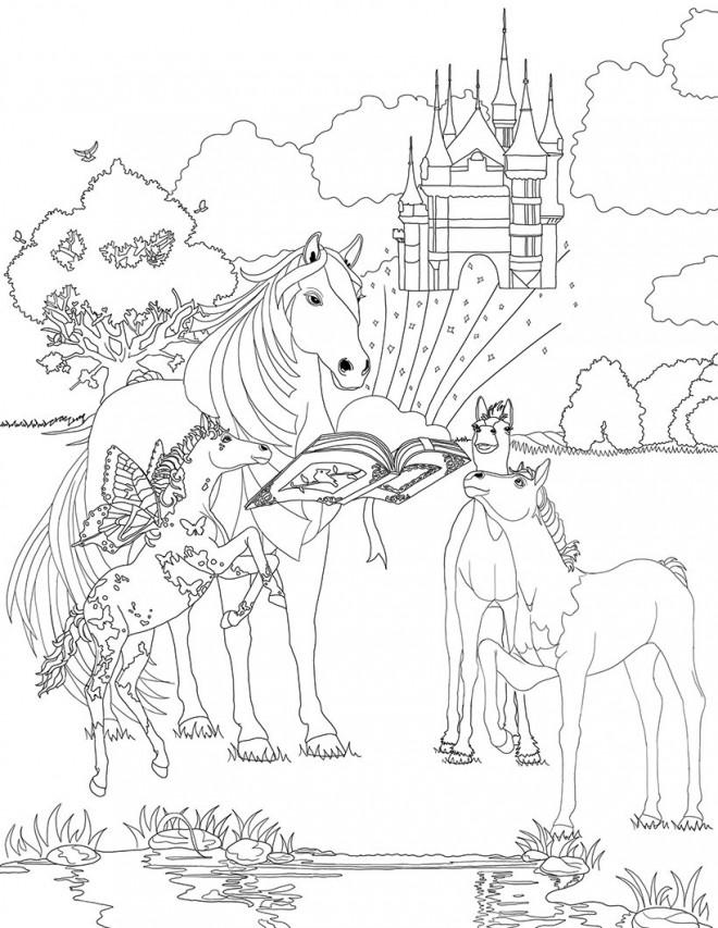 Coloriage et dessins gratuits Bella Sara chevaux à imprimer