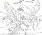 Coloriage et dessins gratuit Bella Sara dans sa planète à imprimer