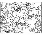 Coloriage et dessins gratuit Bella Sara dasn le marécage à imprimer