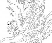 Coloriage et dessins gratuit Bella Sara en mer à imprimer