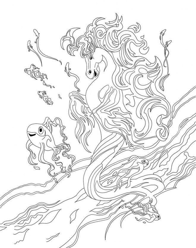 Coloriage et dessins gratuits Bella Sara en mer à imprimer