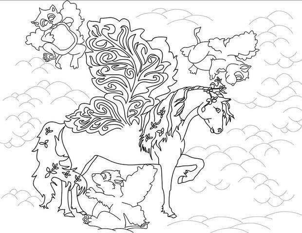 Coloriage et dessins gratuits Bella Sara: Le magnifique cheval à imprimer