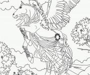 Coloriage et dessins gratuit Cheval Bella Sara à imprimer à imprimer