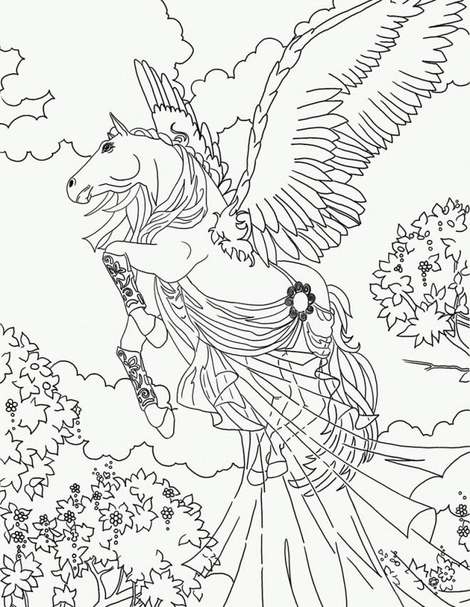Coloriage et dessins gratuits Cheval Bella Sara à imprimer à imprimer