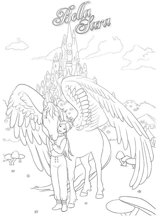 Coloriage et dessins gratuits Le royaume de Bella Sara à imprimer