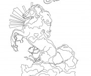 Coloriage et dessins gratuit Statut d'un cheval de Bella Sara à imprimer