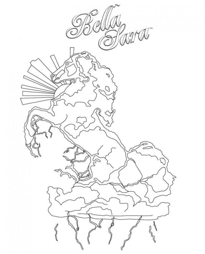 Coloriage et dessins gratuits Statut d'un cheval de Bella Sara à imprimer