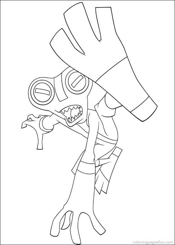Coloriage et dessins gratuits Ben 10 Alien coup de pied à imprimer