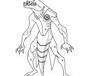 Coloriage et dessins gratuit Ben 10 alien en ligne à imprimer