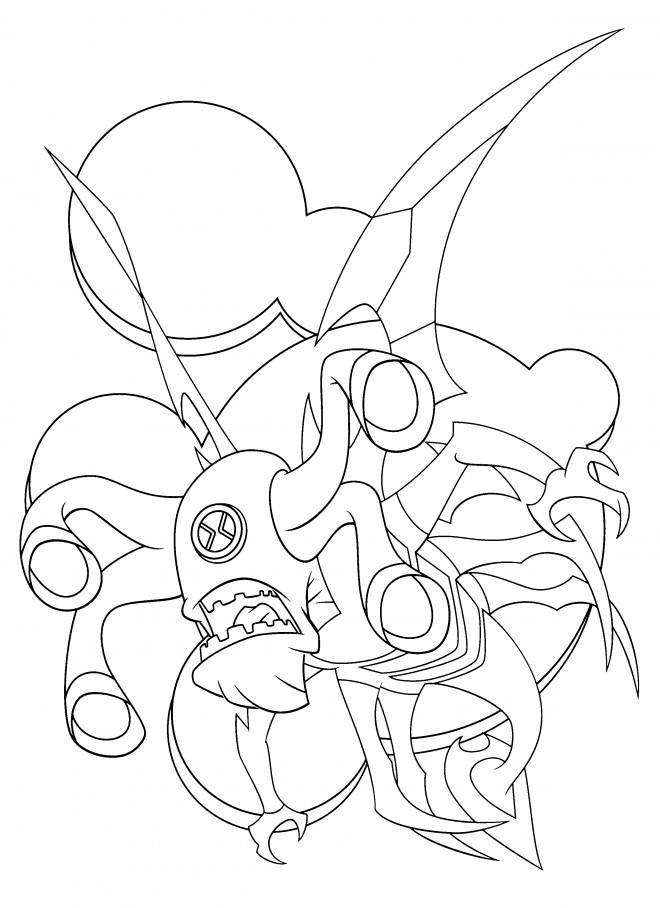 Coloriage et dessins gratuits Ben 10 Crashhopper à imprimer