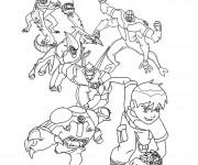 Coloriage et dessins gratuit Ben 10 et ses transformations à imprimer