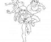 Coloriage et dessins gratuit Ben 10, Gwen et Kevin à imprimer