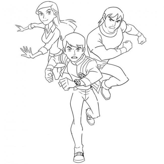 Coloriage Ben 10 Gulli.Dessin Anime Ben 10