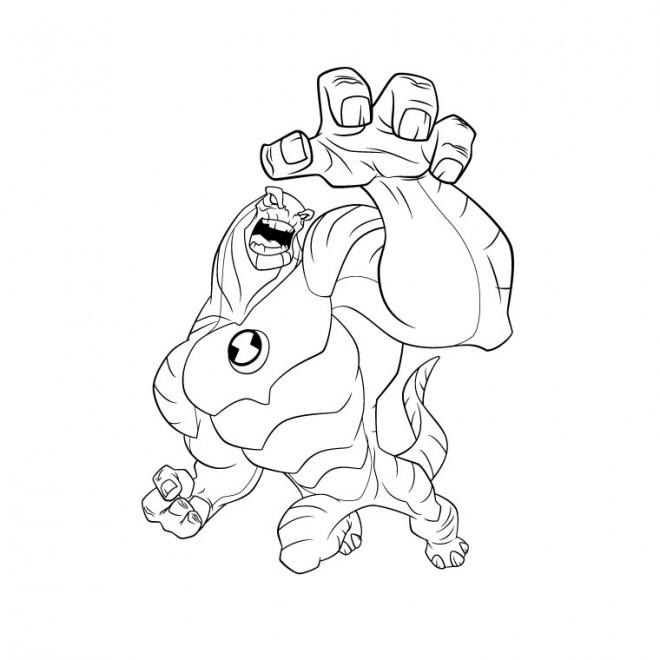 Coloriage et dessins gratuits Ben 10 Ultimate Alien à imprimer