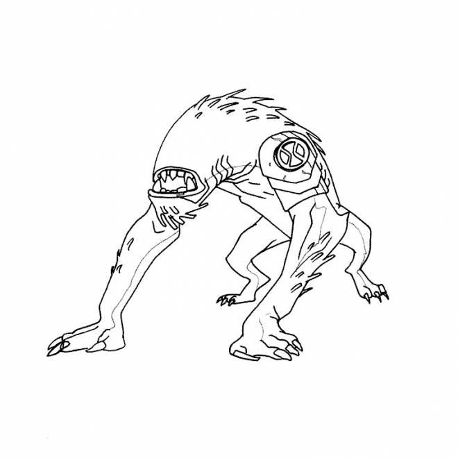 Coloriage et dessins gratuits Ben 10 ultime alien à imprimer