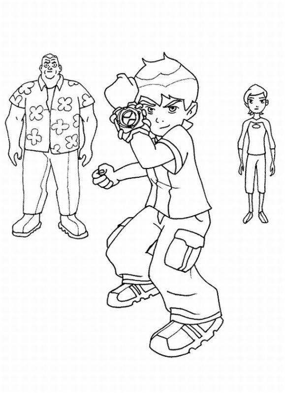 Coloriage et dessins gratuits Ben, Gwen et Max à imprimer