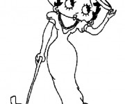 Coloriage Betty Boop et son chien